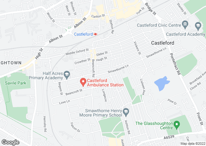 Map for 59 Smawthorne Lane, Castleford, W. Yorkshire