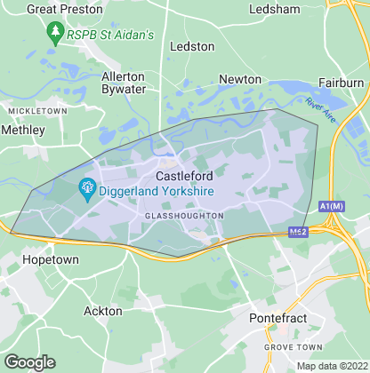 Map of property in Castleford