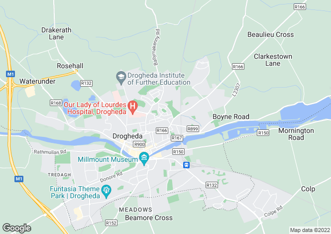 Map for 14 Ascal a hAon, Yellowbatter, Drogheda, Louth