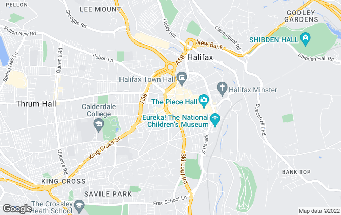 Map for Peter David Properties Ltd, Halifax