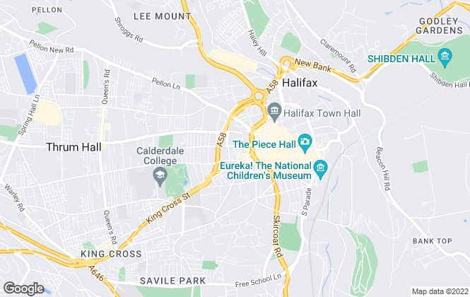 Map for Charnock Bates, Halifax