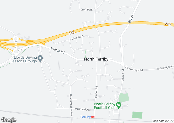 Map for High Street, North Ferriby