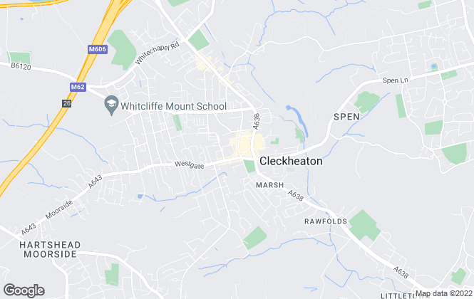 Map for Robert Watts Estate Agents, Cleckheaton