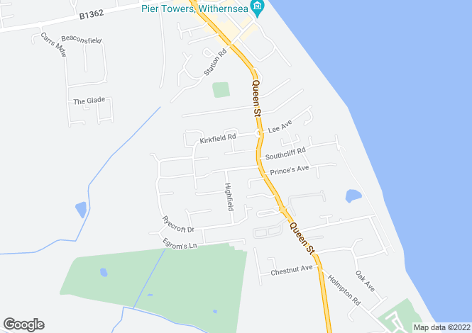 Map for 11 Victoria Avenue, Withernsea., East Yorkshire