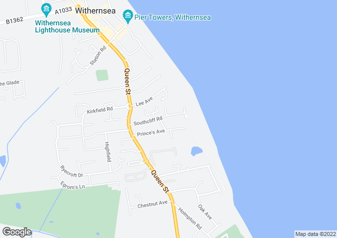Map for South Cliff Road, Withernsea, North Humberside, HU19
