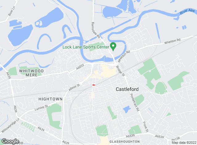 Map for William H. Brown, Castleford