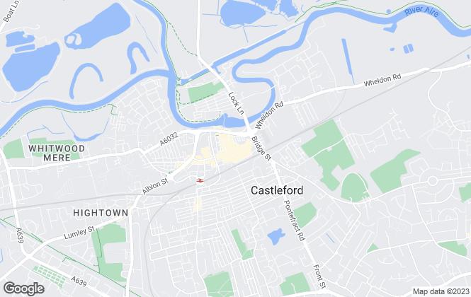 Map for Richard Kendall, Castleford