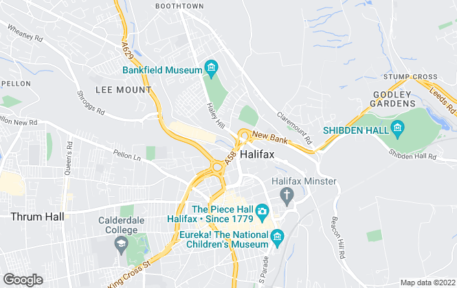Map for Alex Christian Estate Agents, Halifax