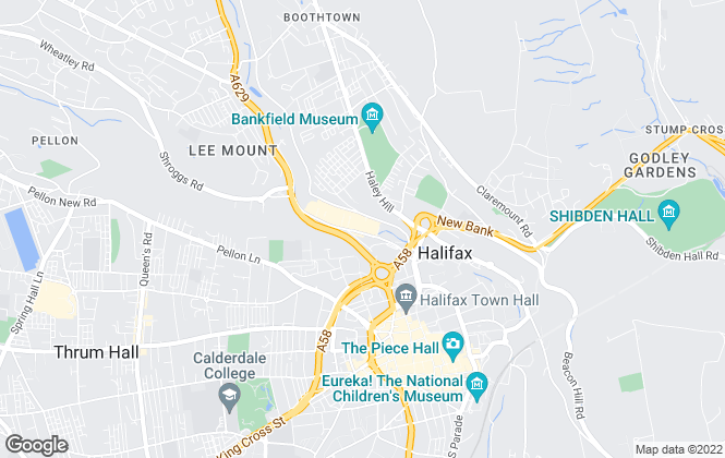 Map for Protheroe Property, Halifax Sales & Lettings