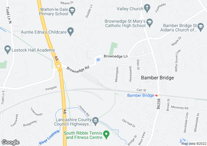 Map for Brampton Drive, Bamber Bridge, Preston PR5