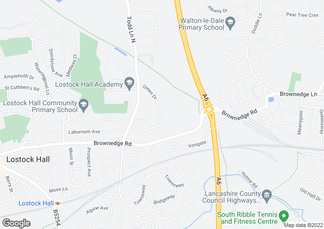 Map for Green Drive, Lostock Hall, Preston, Lancashire