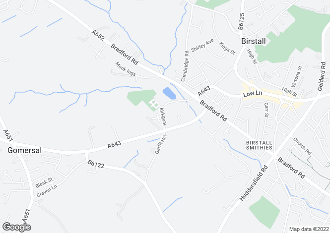 Map for 32/34 Kirkgate, Birstall