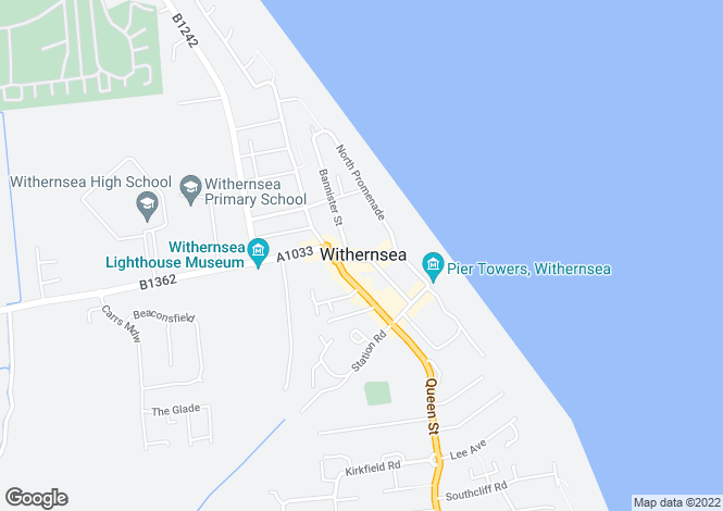 Map for Seaside Road, Withernsea, East Yorkshire, North Humberside