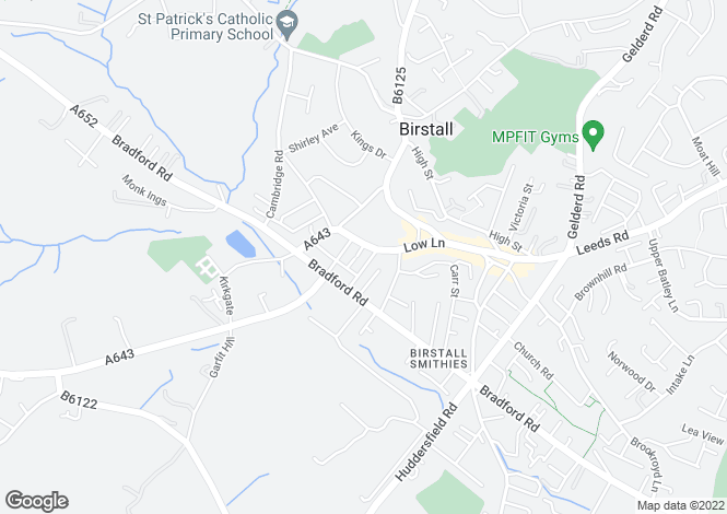 Map for Oakwell Motel