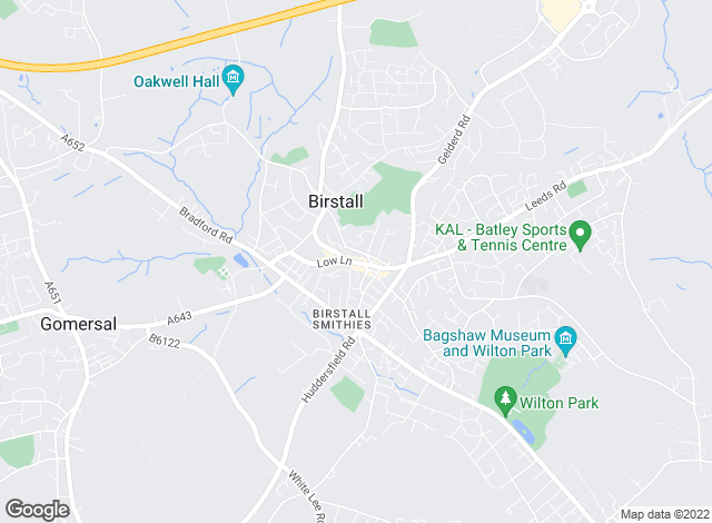 Map for Barkers Estate Agents, Birstall