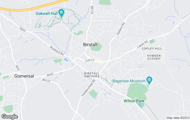 Map for Westfield Estates, Birstall
