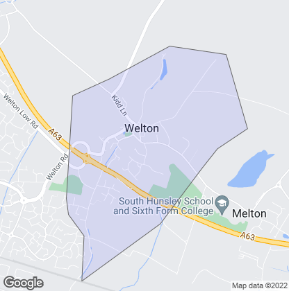 Map of property in Welton