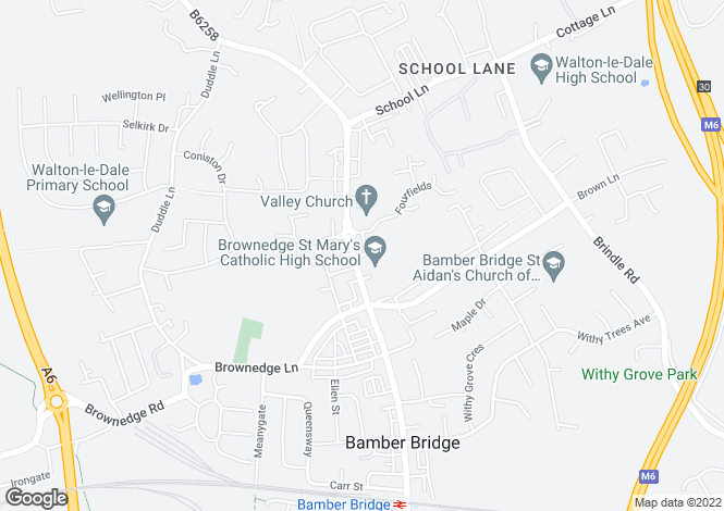 Map for Station Road Bamber Bridge Preston