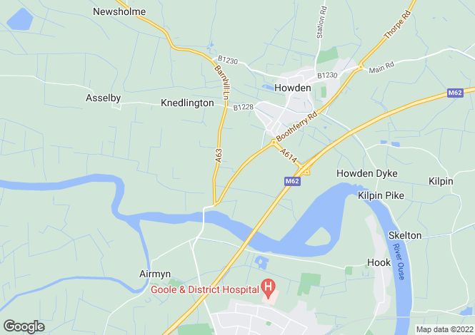 Map for Unit 2, Ozone, Junction 37, M62, Goole, East Yorkshire, DN14 7SE