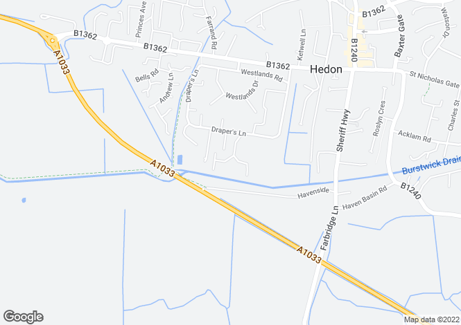 Map for Birch Tree Drive, Hedon, East Riding Of Yorkshire