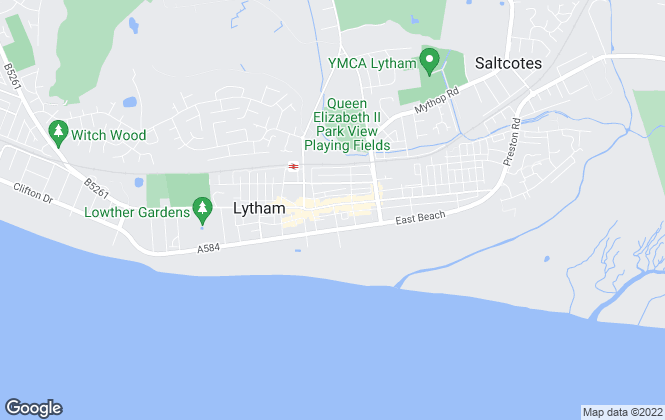 Map for Entwistle Green, Lytham