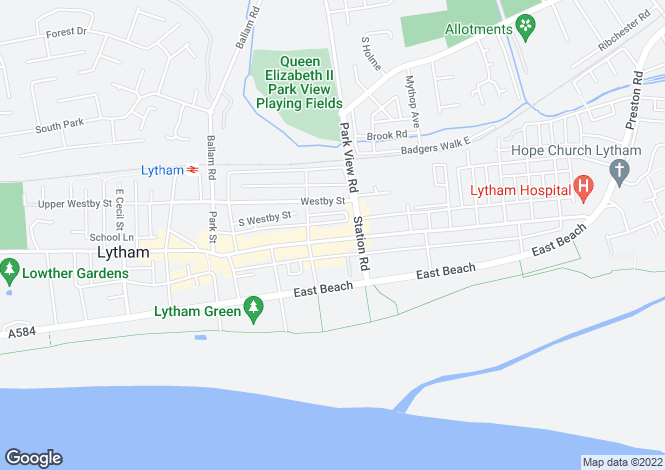 Map for 1 CLIFTON STREET, LYTHAM, LANCASHIRE, FY8 5EP