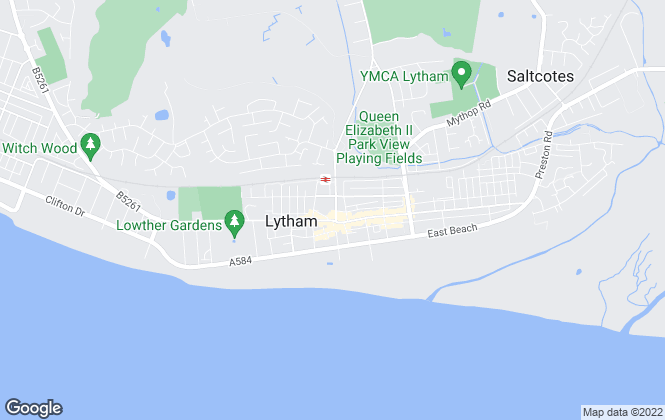 Map for Frank Wyles and Co, LYTHAM