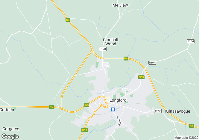 Map for Longford, Longford
