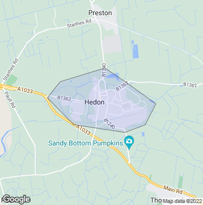 Map of property in Hedon