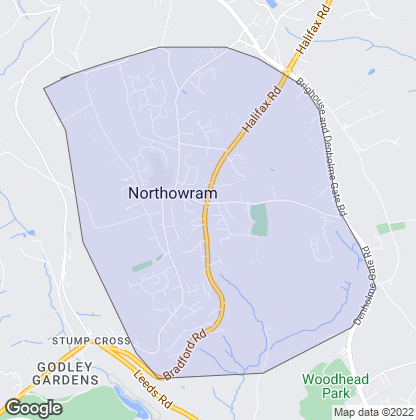Map of property in Northowram