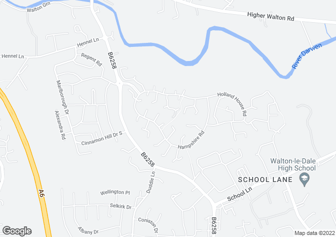 Map for Hampshire Road,