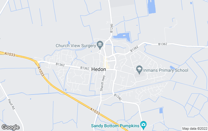 Map for Bruce Ryan Homes, Hedon