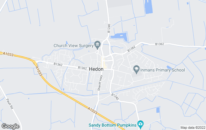 Map for Larards Residential Sales, Hedon