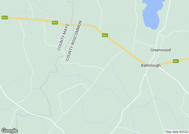 Map for FINAL DATE FOR OFFERS ON OR BEFORE FRIDAY 9TH JUNE Clydagh, Ballinlough, Roscommon