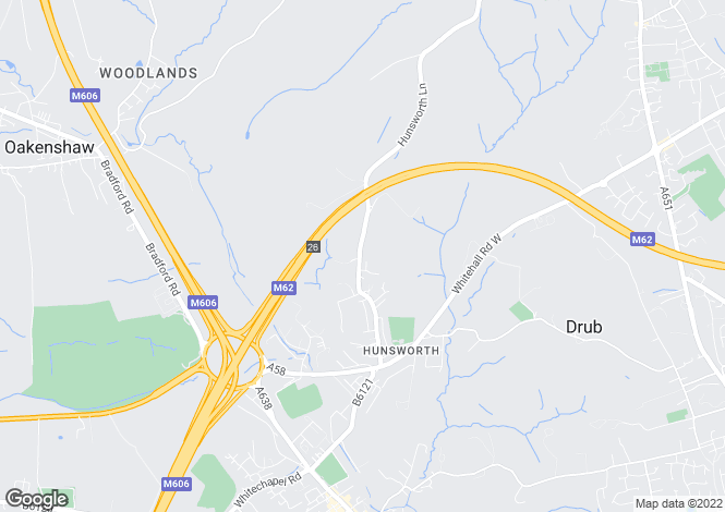 Map for Hunsworth Lane, Hunsworth, West Yorkshire