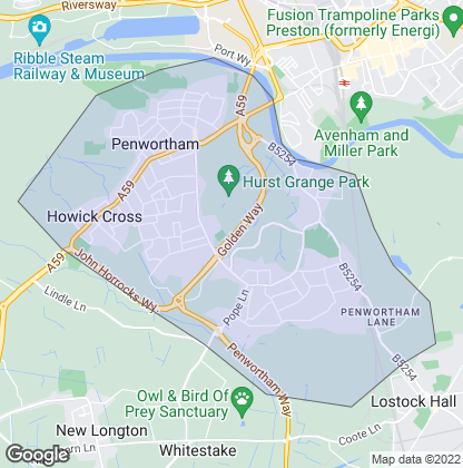 Map of property in Penwortham