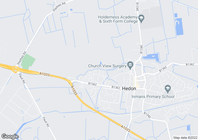 Map for Astley Close, Hedon, East Riding Of Yorkshire