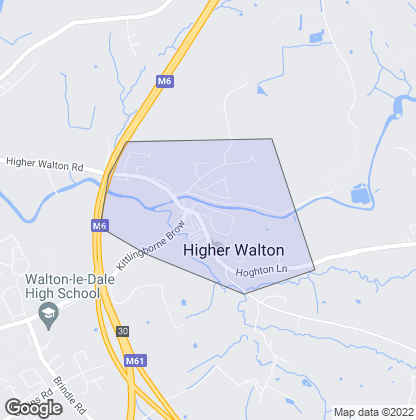 Map of property in Higher Walton