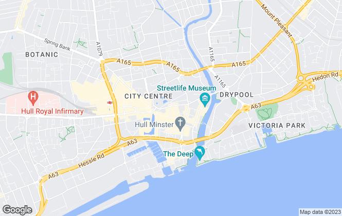Map for Haller Evans, Hull