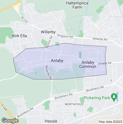 Map of property in Anlaby