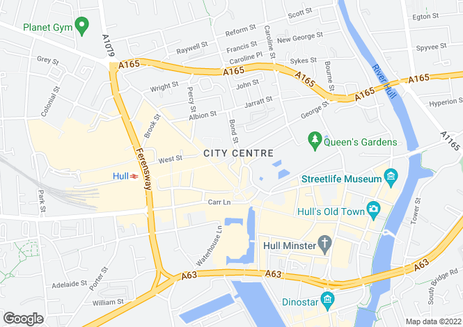 Map for Jameson Street, Hull, HU1 3HR