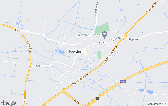 Map for Clegg & Son, Howden
