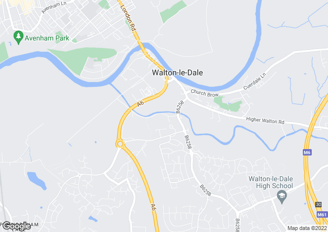 Map for Walton Green, Walton-le-Dale, Preston, Lancashire, PR5