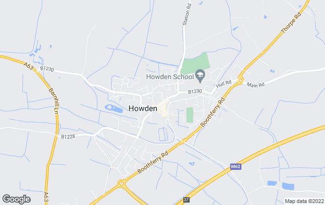 Map for Screetons, Howden