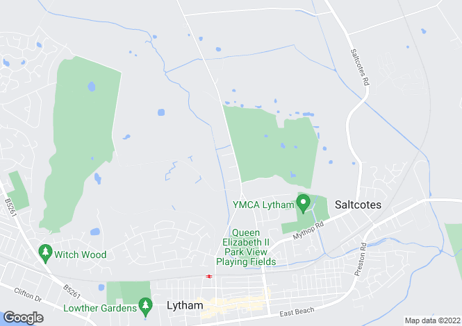Map for Ballam Road, Lytham, Lytham, Lancashire, FY8
