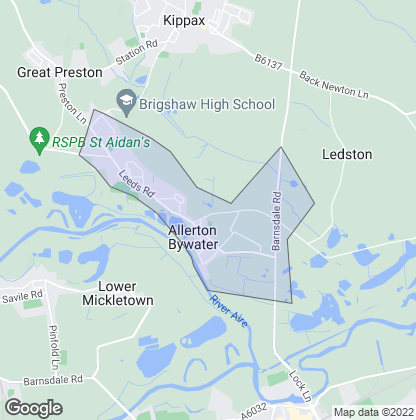 Map of property in Allerton Bywater