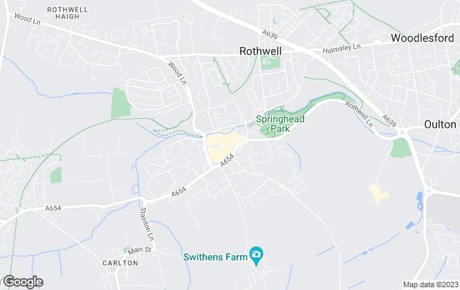 Map for Barrington & Blake Estates, Rothwell