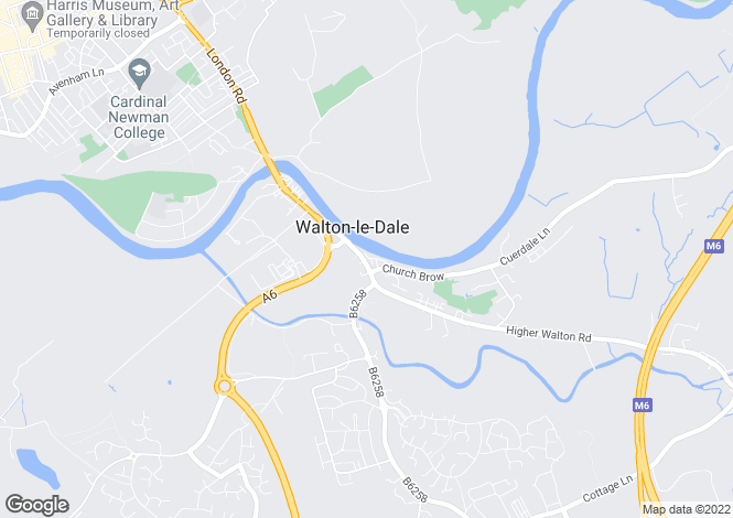 Map for Victoria Road, Walton-le-Dale, Preston, Lancashire, PR5