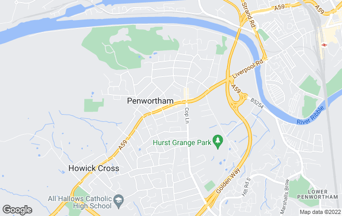 Map for Reeds Rains Lettings, Penwortham