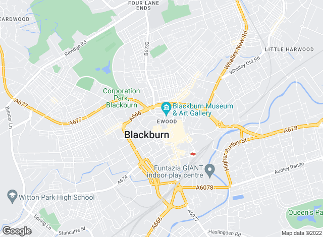 Map for YOUR MOVE, Blackburn